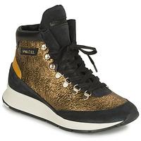Sapatos Mulher Sapatilhas de cano-alto Philippe Model MONTECARLO Ouro / Preto