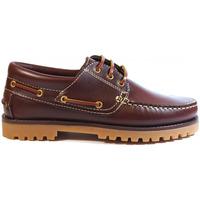 Sapatos Homem Sapato de vela La Valenciana Zapatos  848 Burdeos Vermelho