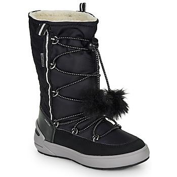 Sapatos Rapariga Botas Geox J SLEIGH GIRL B ABX Preto