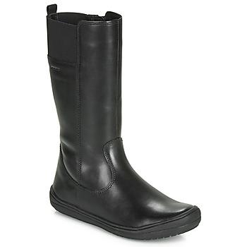 Sapatos Rapariga Botas Geox J HADRIEL GIRL Preto