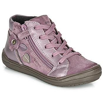 Sapatos Rapariga Botas baixas Geox J HADRIEL GIRL Ameixa