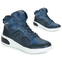 Sapatos Rapaz Sapatilhas de cano-alto Geox J XLED BOY Azul