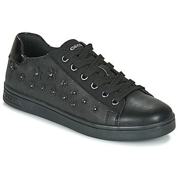 Sapatos Rapariga Sapatilhas Geox J DJROCK GIRL Preto