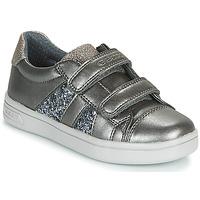 Sapatos Rapariga Sapatilhas Geox J DJROCK GIRL Cinza
