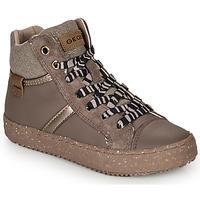 Sapatos Rapariga Sapatilhas de cano-alto Geox J KALISPERA GIRL Cinza