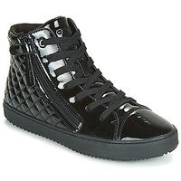 Sapatos Rapariga Sapatilhas de cano-alto Geox J KALISPERA GIRL Preto