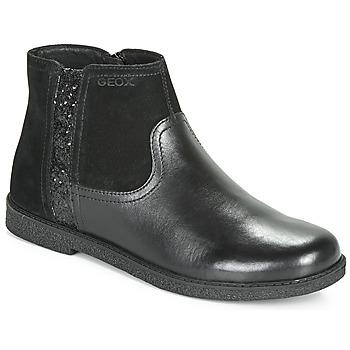 Sapatos Rapariga Botas baixas Geox J SHAWNTEL Preto