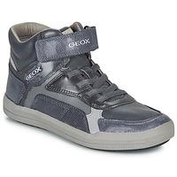 Sapatos Rapaz Sapatilhas de cano-alto Geox J ARZACH BOY Azul / Cinza