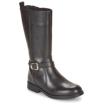 Sapatos Rapariga Botas Geox JR AGATA Preto