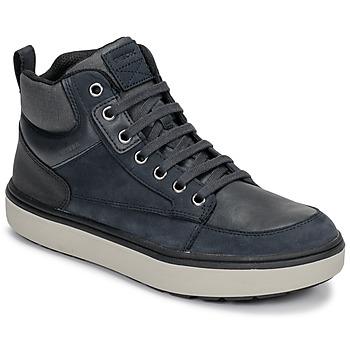 Sapatos Rapaz Sapatilhas de cano-alto Geox J MATTIAS B BOY ABX Azul / Preto