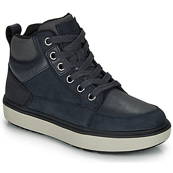 Sapatos Rapaz Sapatilhas de cano-alto Geox J MATTIAS B BOY ABX Azul / Preto / A prova d'água