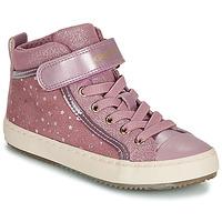 Sapatos Rapariga Sapatilhas de cano-alto Geox J KALISPERA GIRL Rosa