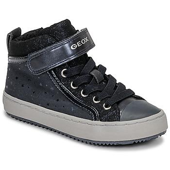 Sapatos Rapariga Sapatilhas de cano-alto Geox J KALISPERA GIRL Azul