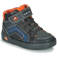 Sapatos Rapaz Sapatilhas de cano-alto Geox B KILWI BOY Cinza / Preto
