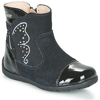 Sapatos Rapariga Botas Geox B KAYTAN Preto
