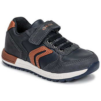 Sapatos Rapaz Sapatilhas Geox B ALBEN BOY Azul / Conhaque