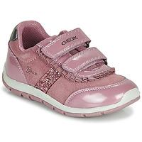 Sapatos Rapariga Sapatilhas Geox B SHAAX Rosa