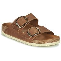 Sapatos Mulher Chinelos Birkenstock ARIZONA BIG BUCKLE Castanho