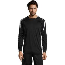 Textil Homem T-shirt mangas compridas Sols AZTECA SPORTS Negro