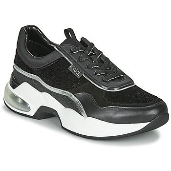 Sapatos Mulher Sapatilhas Karl Lagerfeld VENTURA LAZARE VELVET LACE Preto
