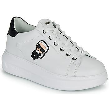 Sapatos Mulher Sapatilhas Karl Lagerfeld KAPRI KARL IKONIC LO LACE Branco / Preto