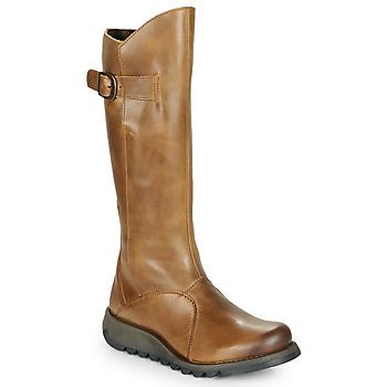 Sapatos Mulher Botas Fly London MOL 2 Camel