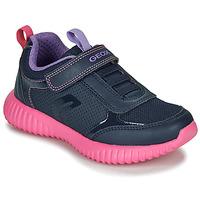Sapatos Rapariga Sapatilhas Geox J WAVINESS Navy / Rosa