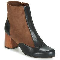 Sapatos Mulher Botins Chie Mihara MICHELE Preto / Castanho
