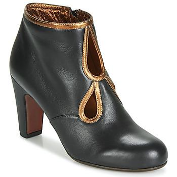 Sapatos Mulher Botins Chie Mihara KOSPI Preto / Ouro
