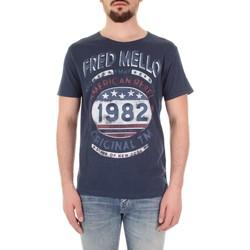 Textil Homem T-Shirt mangas curtas Fred Mello FM19S09TG Azul
