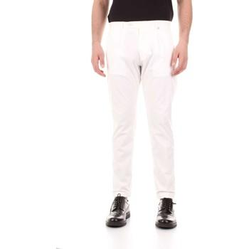 Textil Homem Calças Bicolore F2576-ZINCO Branco