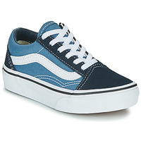Sapatos Criança Sapatilhas Vans UY OLD SKOOL Marinho / Branco