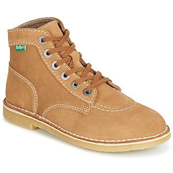Sapatos Mulher Botas baixas Kickers ORILEGEND Camel