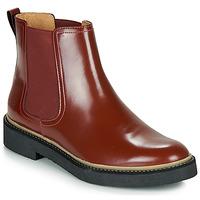 Sapatos Mulher Botas baixas Kickers OXFORDCHIC Vermelho / Escuro