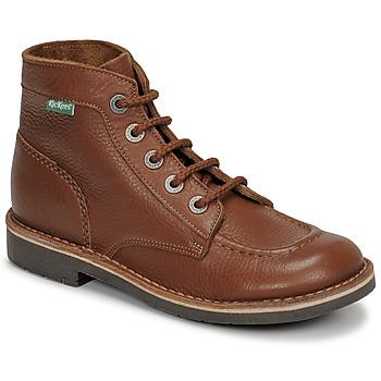 Sapatos Mulher Botas baixas Kickers KICK COL Castanho