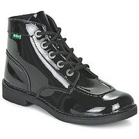 Sapatos Mulher Botas baixas Kickers KICK COL Preto / Verniz