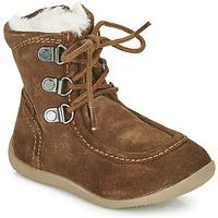 Sapatos Criança Botas Kickers BAMARA Camel