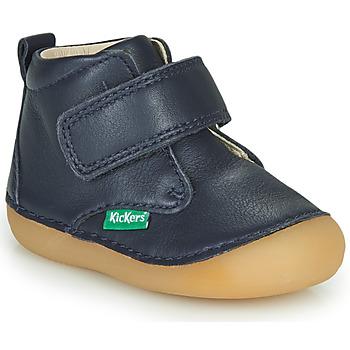 Sapatos Criança Botas baixas Kickers SABIO Marinho