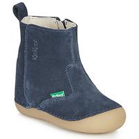 Sapatos Criança Botas Kickers SOCOOL Marinho