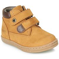 Sapatos Rapaz Botas baixas Kickers TACKEASY Camel / Castanho