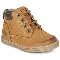 Sapatos Rapaz Botas baixas Kickers TACKLAND Camel / Castanho