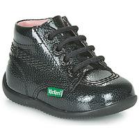 Sapatos Rapariga Botas baixas Kickers BILLISTA ZIP Preto