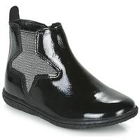 Sapatos Rapariga Botas baixas Kickers VERMILLON Preto