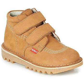 Sapatos Rapaz Botas baixas Kickers NEOVELCRO Camel