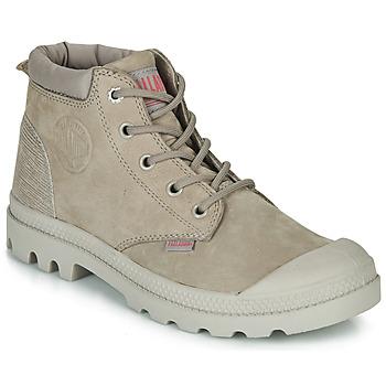 Sapatos Mulher Botas baixas Palladium PAMPA LO CUFF LEA Cinza