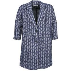 Textil Mulher Casacos See U Soon RIFFLE Azul / Branco