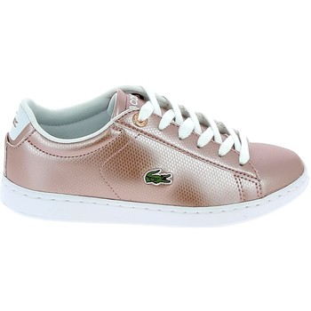 Sapatos Mulher Sapatilhas Lacoste Carnaby Evo C Rose Blanc Rosa