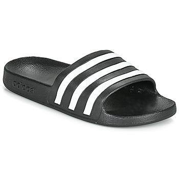 Sapatos chinelos adidas Performance ADILETTE AQUA Preto / Branco