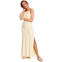 Textil Mulher Tops / Blusas Moe M432 Vestido Maxi de algodão com alças de esparguete - amarelo