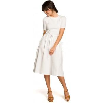 Textil Mulher Casacos de malha Be B120 Vestido midi de ajuste e flare - rosa